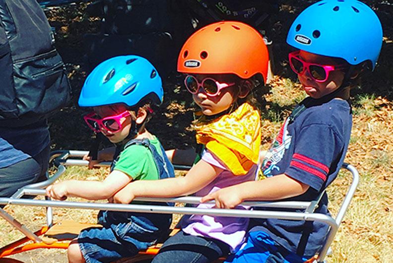 Lastenrad Kindertransport: 3 Kinder