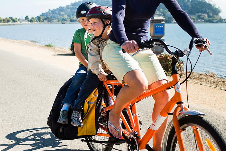 Yuba Kinder auf dem Fahrrad mitnehmen