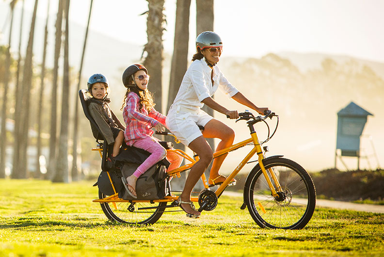 Lastenrad Kindertransport: 2 Kinder