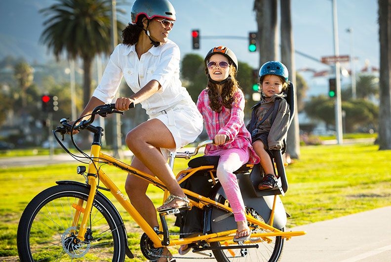 Yuba Mundo Kindermitnahme auf Fahrrad