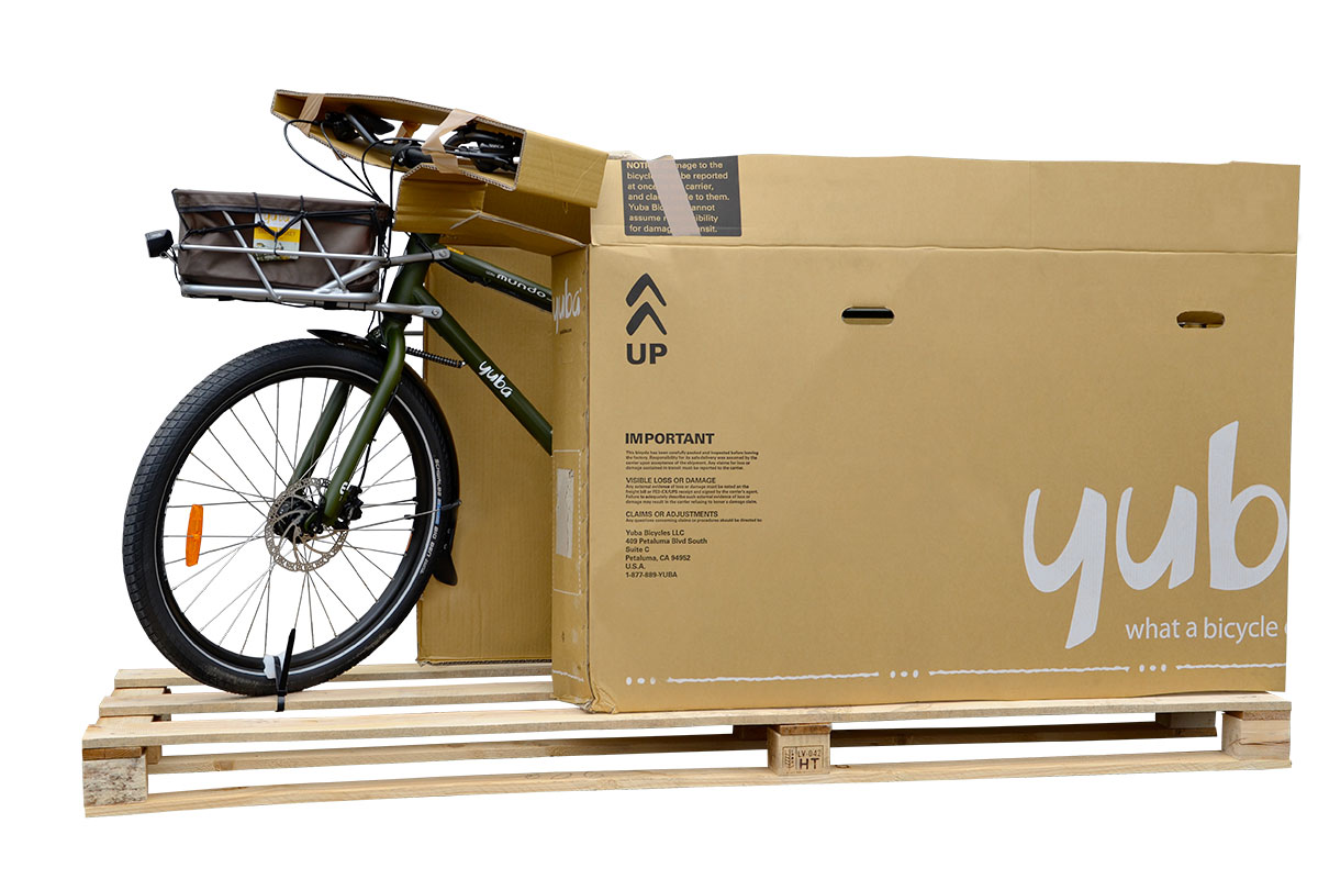 Yuba Cargo Bike assembled